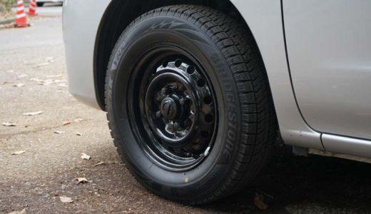 NV200 スチールホイール (鉄チン) をシャシーブラックで塗装