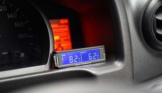 NV200 路面凍結の目安に、車内 / 車外気温度計の取り付け
