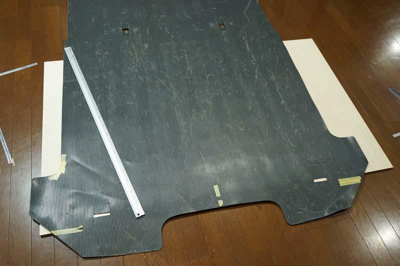 床張り 合板の型取り
