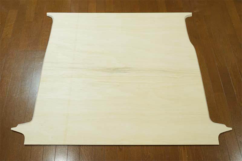 床張り 合板のカット