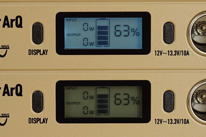 SmartTap PowerArQ mini 液晶表示