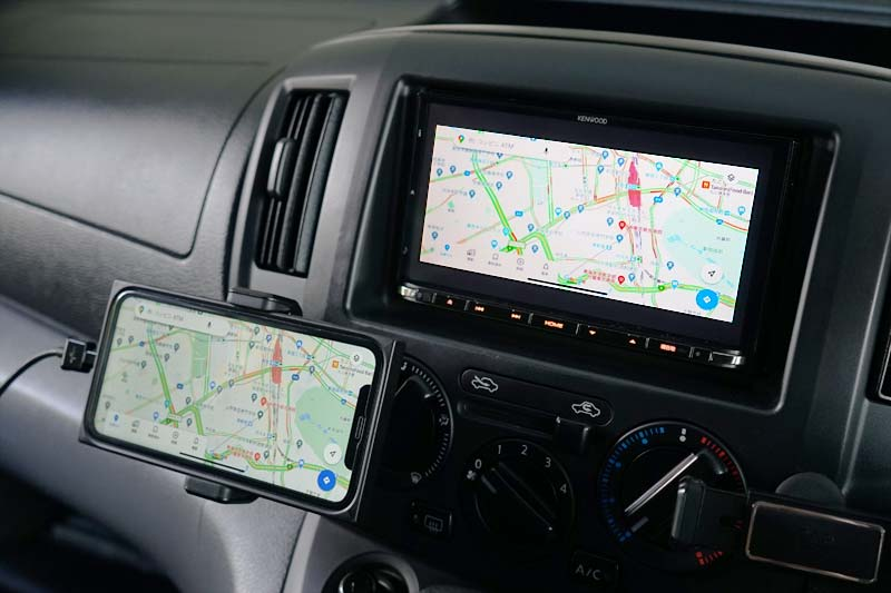 iPhone Google Maps カーナビへミラーリング