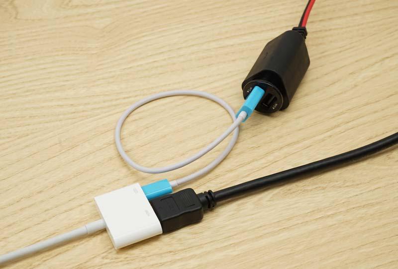 iPhone シガーソケット充電