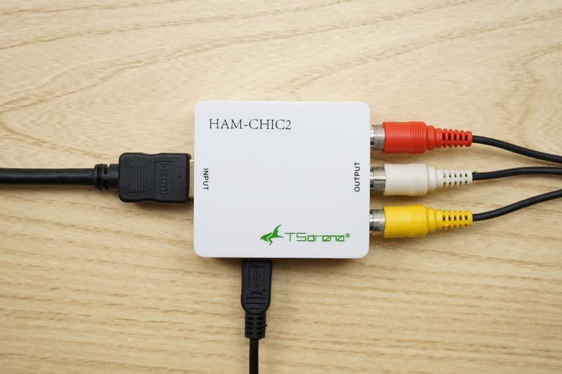 iPhone ミラーリング HDMIをRCAコンバータ