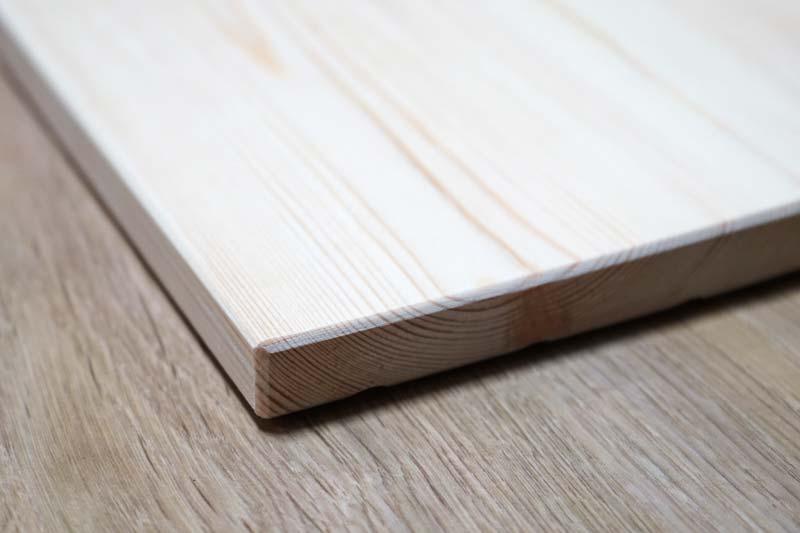 折りたたみテーブル天板の面取り加工