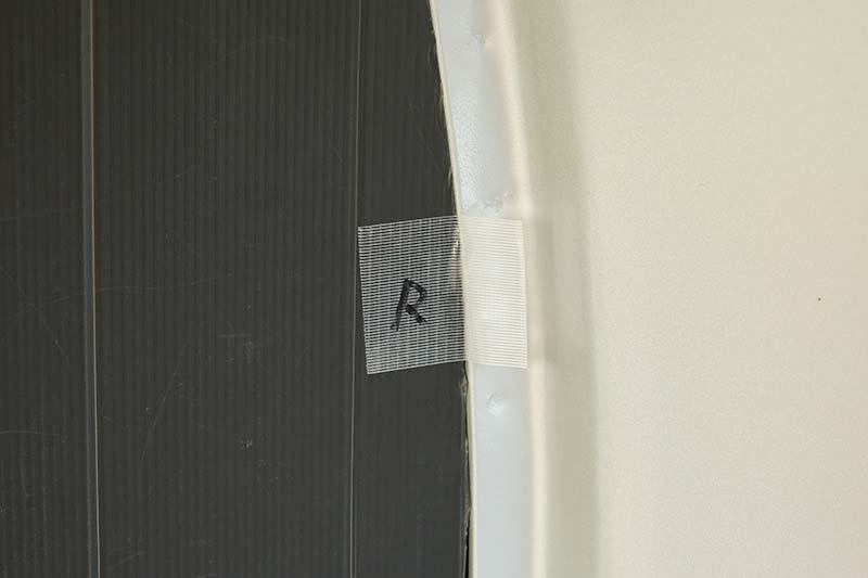 車中泊用 プラダンを使った窓用目隠しシェードの作り方 取り外し用のタブ