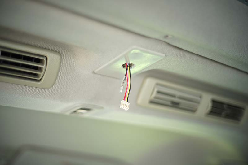 加工した調光器の配線
