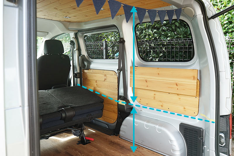 NV200 車中泊用ベッドDIY ベッドの高さ