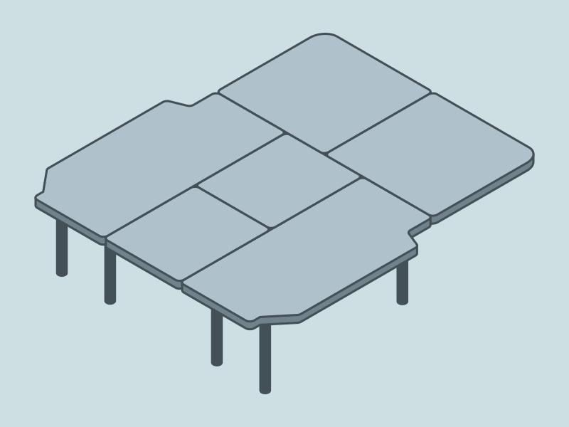 NV200 車中泊用ベッドDIY ベッドの構造