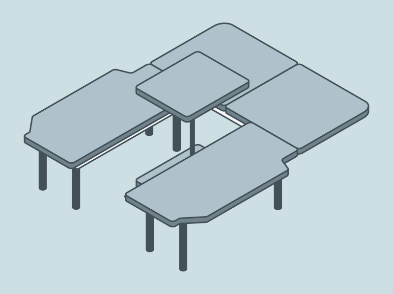 NV200 車中泊用ベッドDIY ベッドの構造 ダイネット展開時