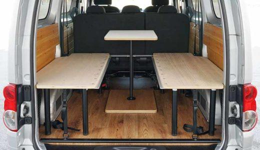 【車中泊ベッドDIY】ダイネット用テーブルの製作【キャンピングカー】