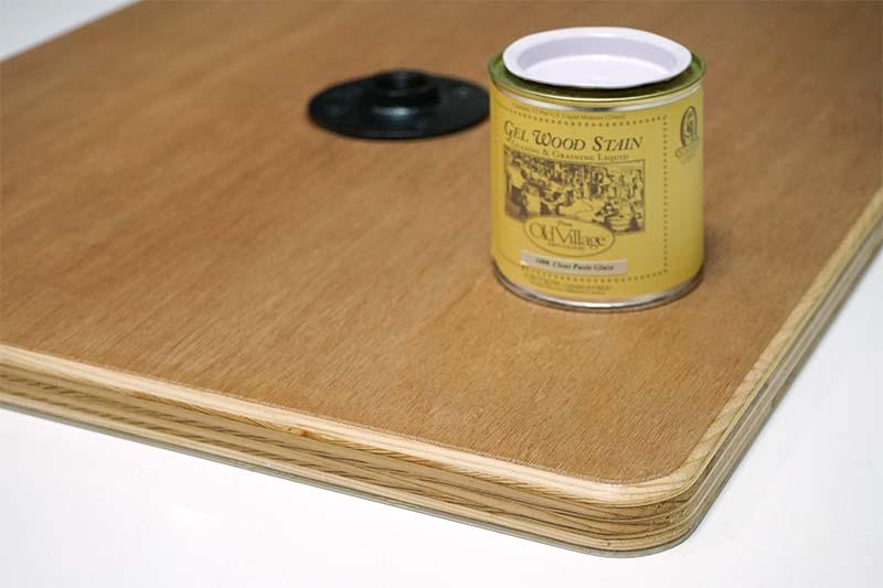 テーブル製作 クリアーペーストグレーズで保護